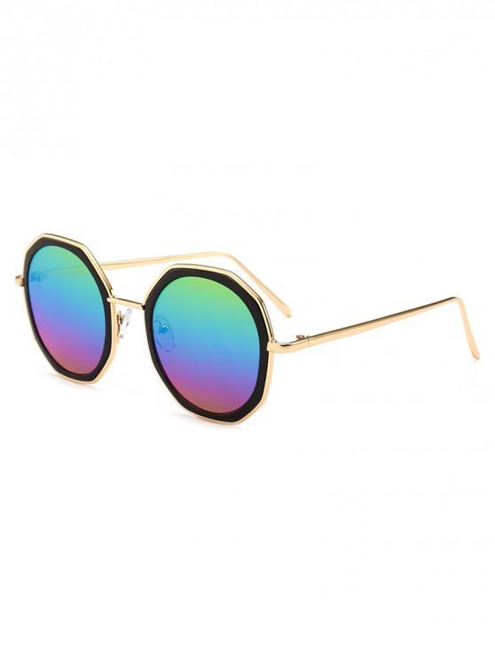 online Round Anti UV Metal Sunglasses - MULTI-A