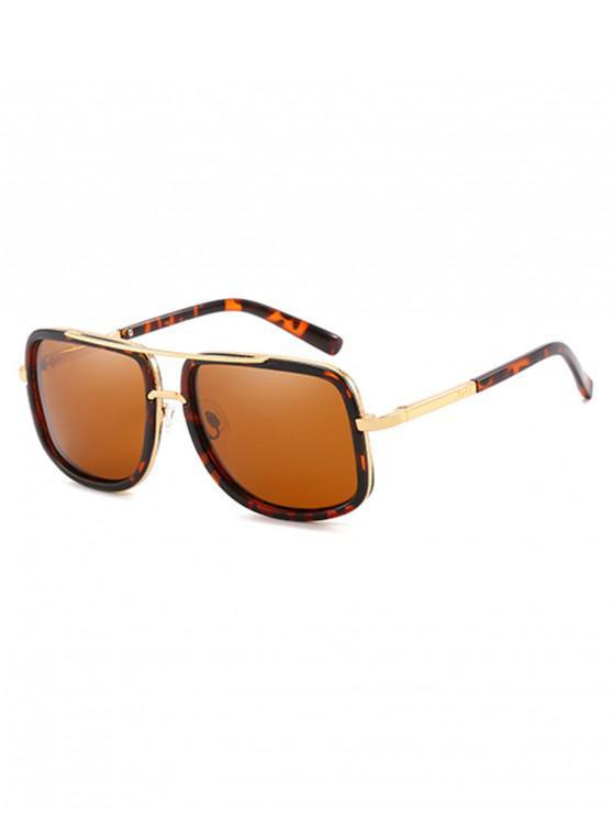 new Anti UV Square Polarized Sunglasses - BROWN