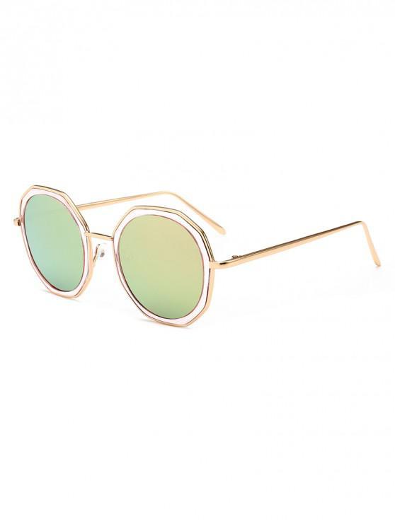 hot Round Anti UV Metal Sunglasses - PINK