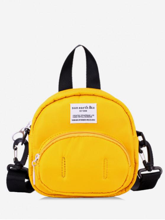 fancy Pig Nose Design Nylon Bag - YELLOW