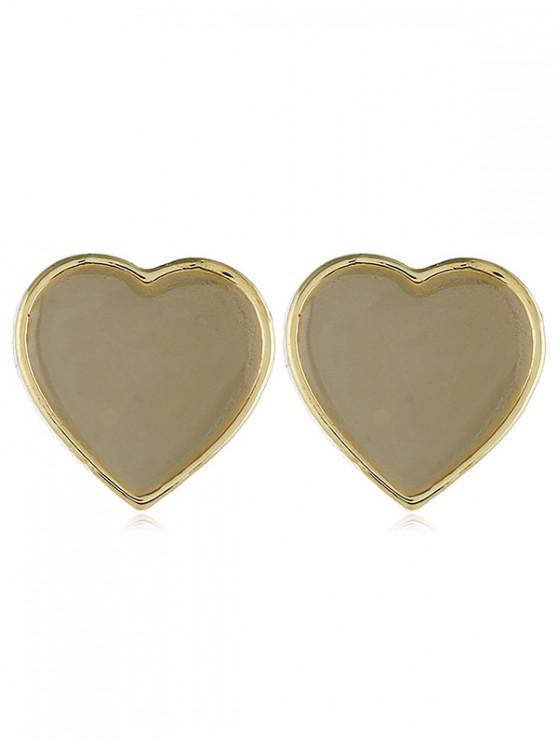 fashion Heart Stud Earrings - WHITE