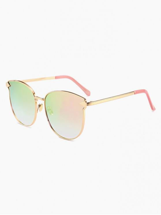 hot Arrow Decoration Metal Frame Sunglasses - PINK