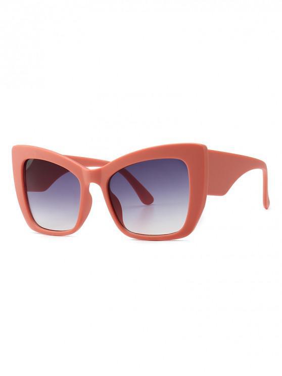 trendy Animal Print Stylish European Style Wide Frame Sunglasses - PINK