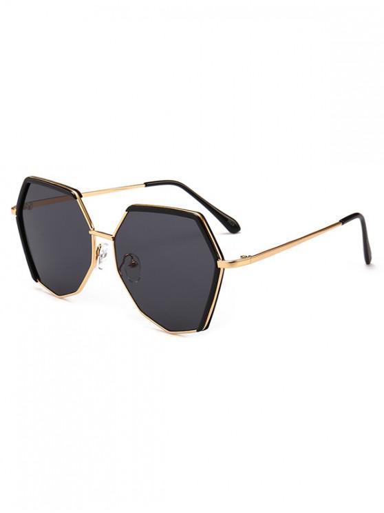 affordable Anti UV Irregular Sunglasses - BLACK