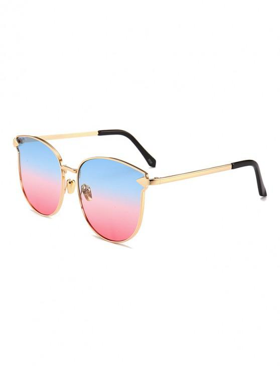 lady Arrow Decoration Metal Frame Sunglasses - MULTI-A