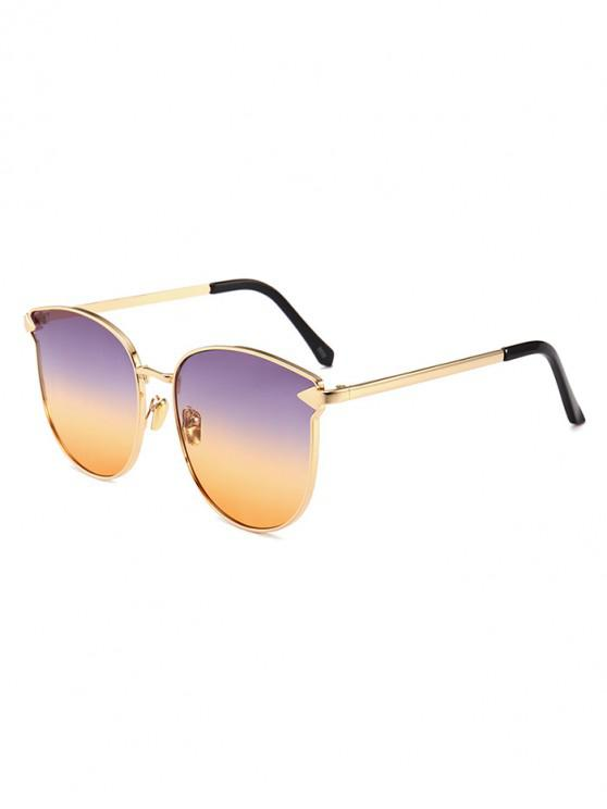 online Arrow Decoration Metal Frame Sunglasses - MULTI-B