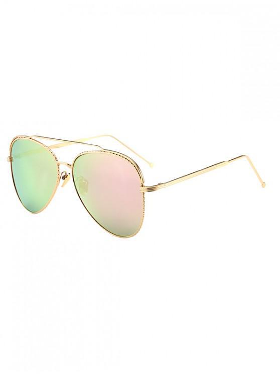 new Metal Rim Pilot Sunglasses - PIG PINK