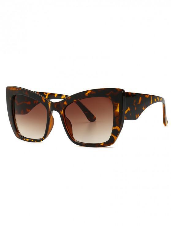 chic Animal Print Stylish European Style Wide Frame Sunglasses - LEOPARD