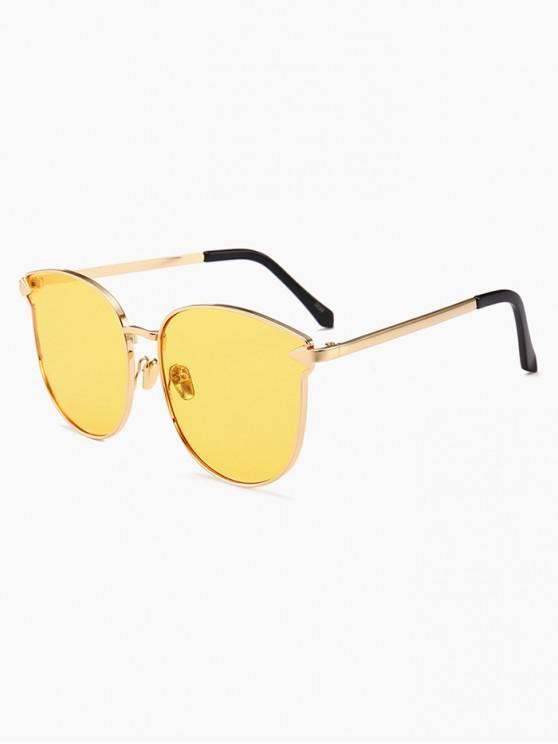 sale Arrow Decoration Metal Frame Sunglasses - YELLOW