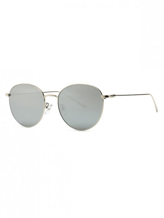 ladies Round Metal Frame Sunglasses - SILVER