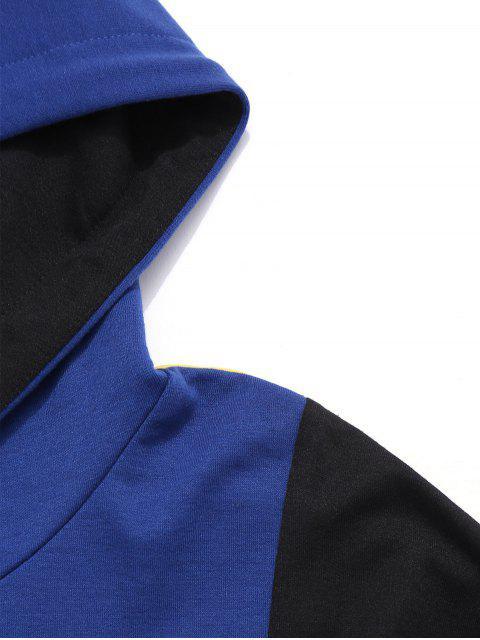 buy High Low Hem Panel Hoodie - MULTI XL Mobile