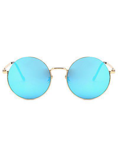 7a2941b5407 ... Metal Frame Round Sunglasses - Light Slate Blue