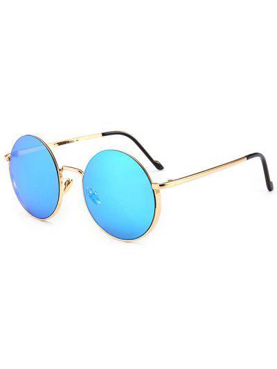d7d516dbeb2 Metal Frame Round Sunglasses - Light Slate Blue ...