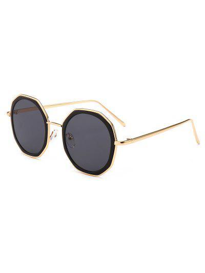 98fbed5ce716f Óculos De Sol De Metal Anti UV Redondo - Preto