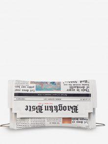 حقيبة الكتف الصغيرة جريدة نمط - أبيض