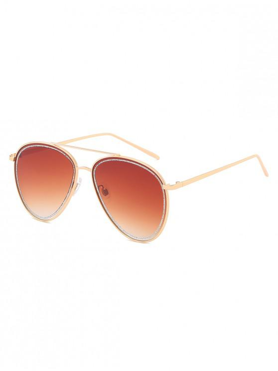 online Anti UV Classic Pilot Sunglasses - BROWN