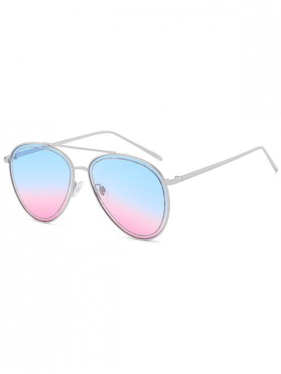 outfits Anti UV Classic Pilot Sunglasses - BLUE GRAY