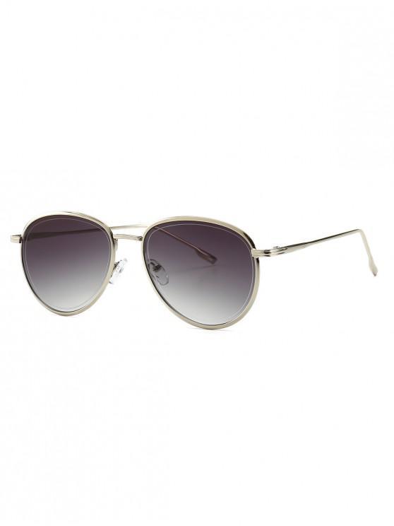 trendy Colorful Design Alloy Frame Sunglasses - GRAY