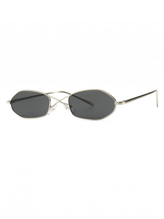 chic Unique Irregular Shape Sunglasses - GRAY