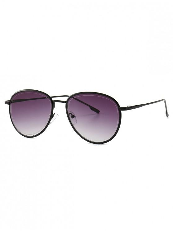women's Colorful Design Alloy Frame Sunglasses - BLACK