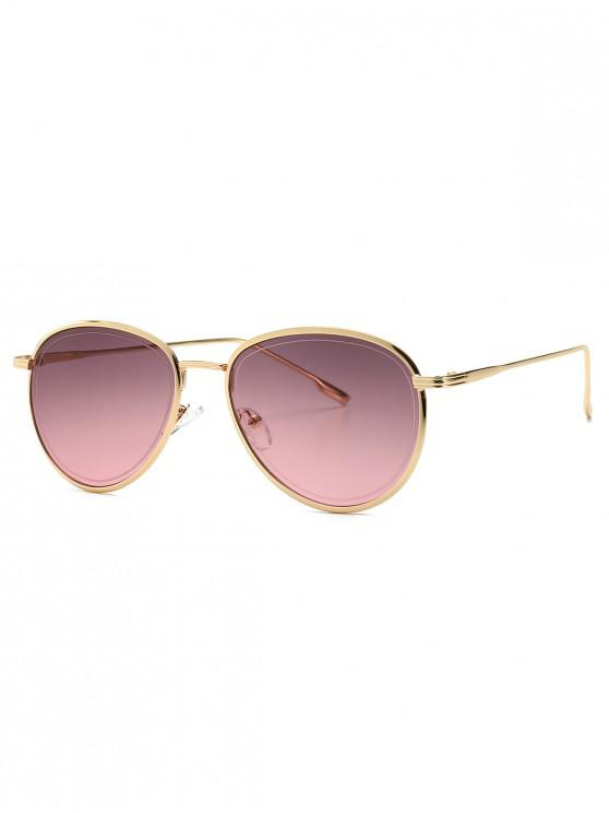 new Colorful Design Alloy Frame Sunglasses - DULL PURPLE