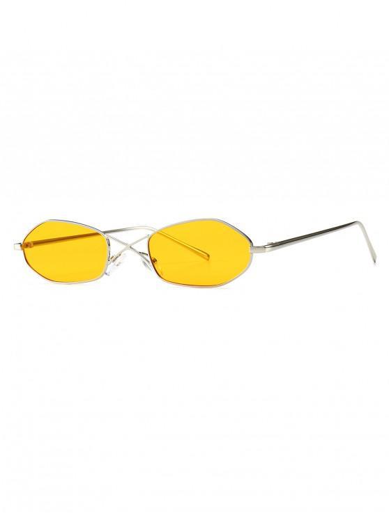 latest Unique Irregular Shape Sunglasses - YELLOW