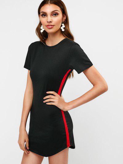 0b1eda92ff Contrast Mini Tee Dress - Black S ...
