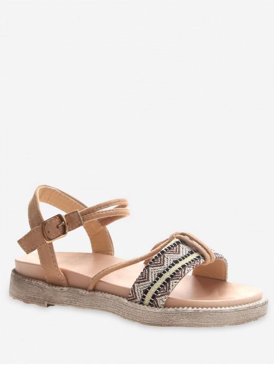 new Ethnic Zigzag Platform Sandals - APRICOT EU 37