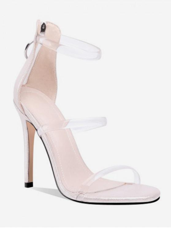 new Stiletto Heel Zipper Decoration Sandals - APRICOT EU 36