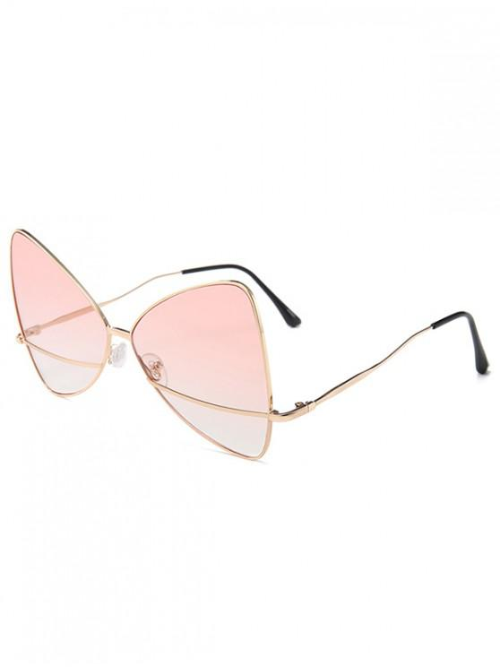 affordable Bowknot Shape Triangle Sunglasses - LIGHT PINK