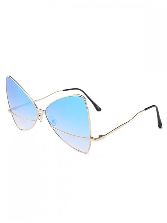 buy Bowknot Shape Triangle Sunglasses - SKY BLUE