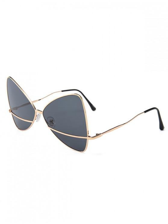 women Bowknot Shape Triangle Sunglasses - BLACK