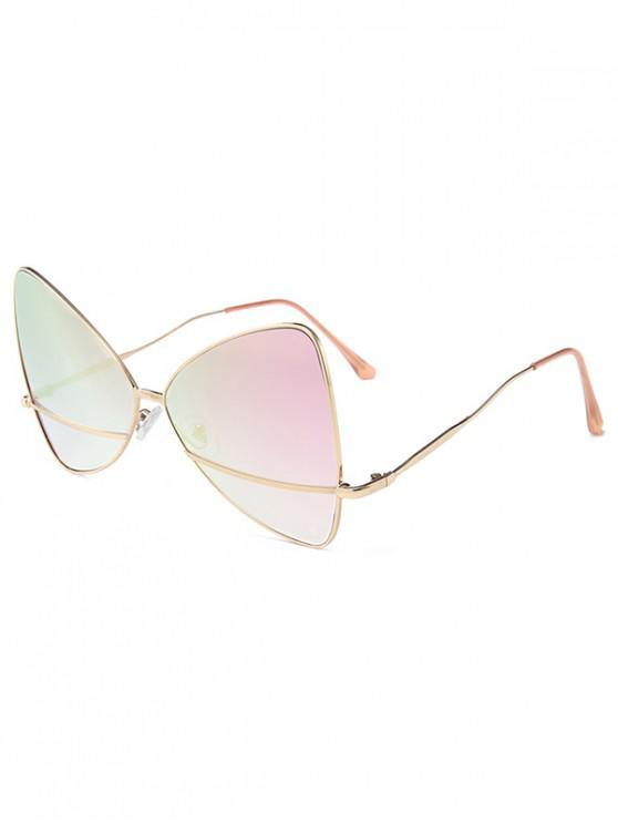 online Bowknot Shape Triangle Sunglasses - PINK