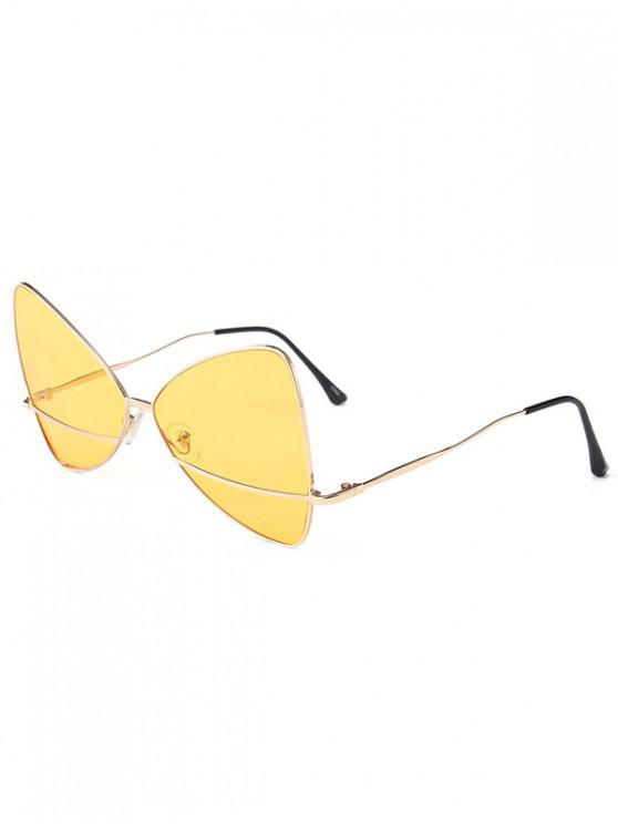 new Bowknot Shape Triangle Sunglasses - BRIGHT YELLOW