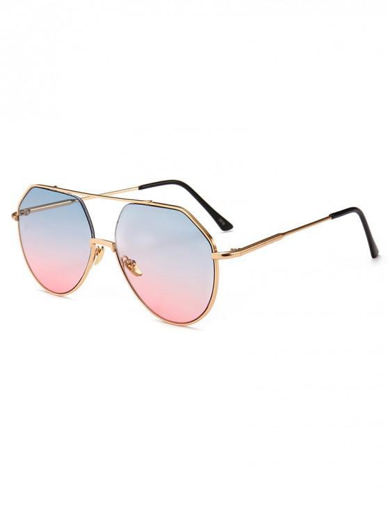 unique Outdoor Metal Rim Pilot Sunglasses - LIGHT SLATE BLUE