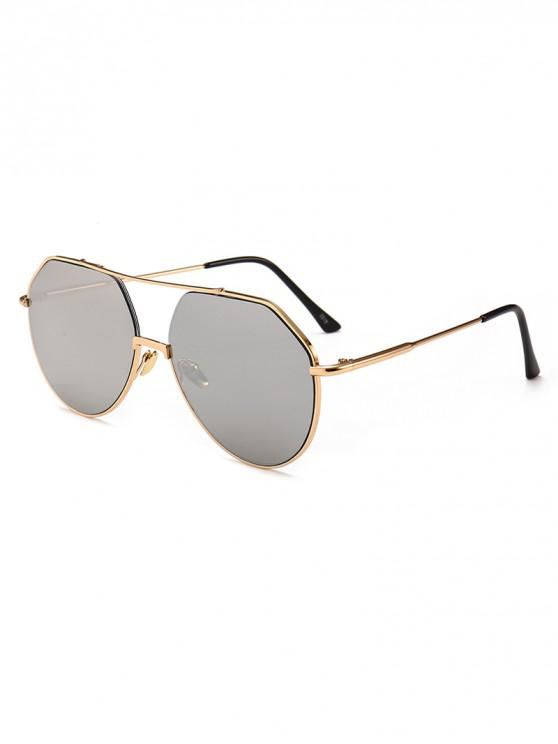 sale Outdoor Metal Rim Pilot Sunglasses - SILVER