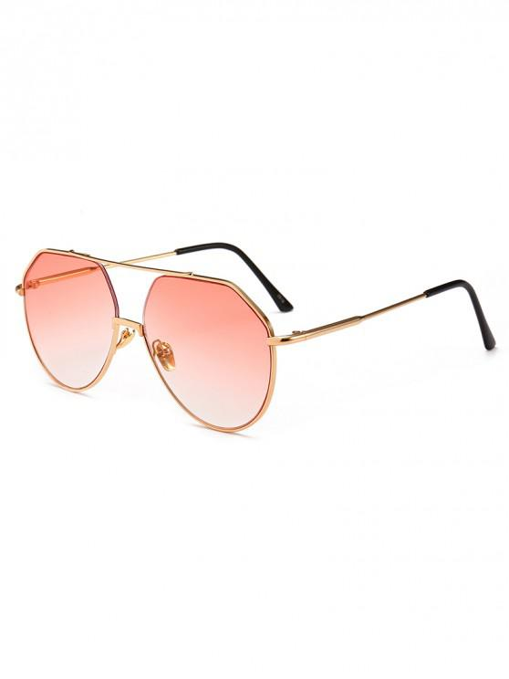 buy Outdoor Metal Rim Pilot Sunglasses - PIG PINK
