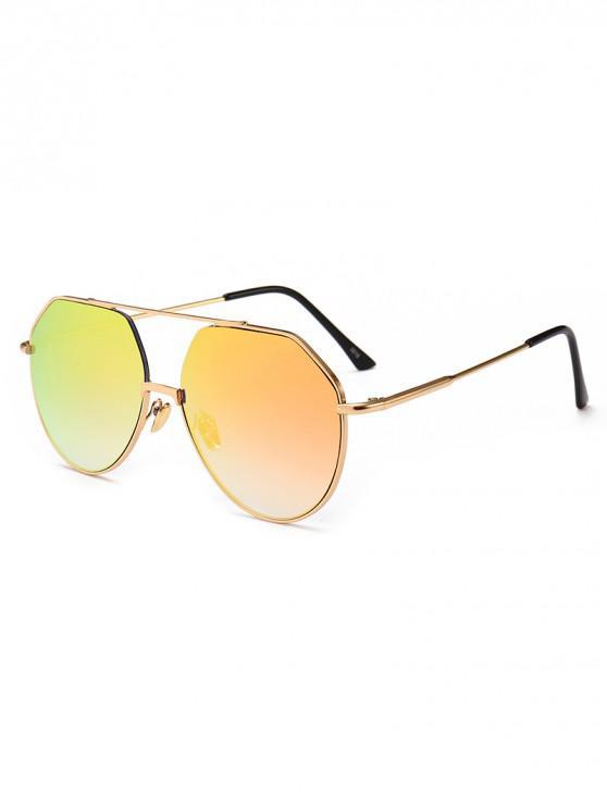 women's Outdoor Metal Rim Pilot Sunglasses - PINK