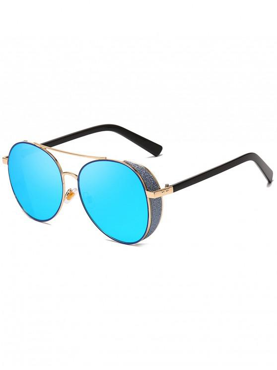 lady Butterfly Shape Frame Decorative Sunglasses - LIGHT SLATE BLUE