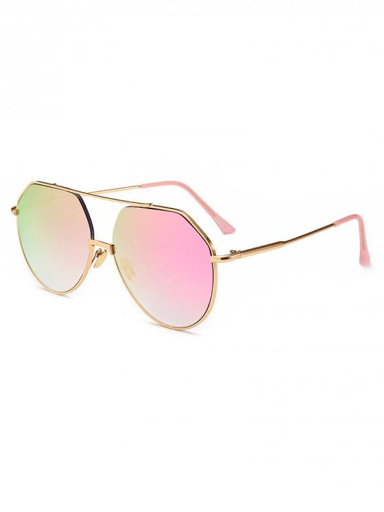 best Outdoor Metal Rim Pilot Sunglasses - VIOLET RED