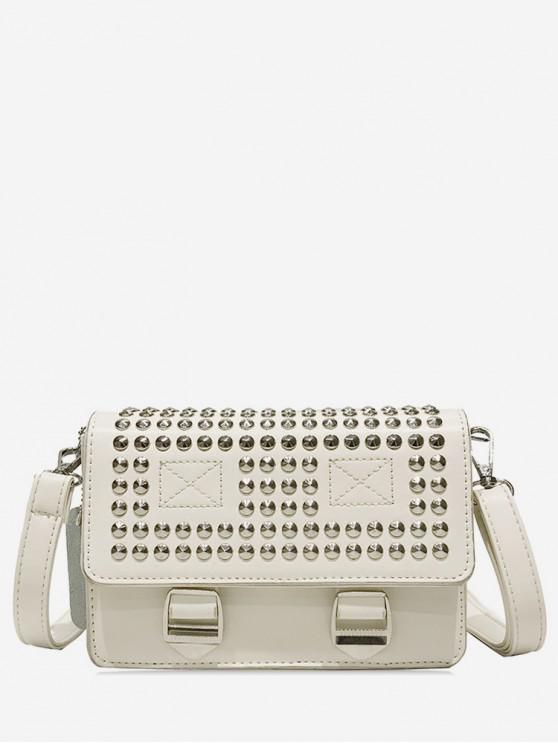 sale Rivet Messenger Cross Body Bag - WHITE
