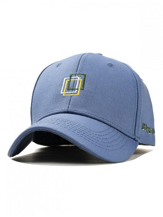 trendy Icon Embroidery Cotton Baseball Hat - CORNFLOWER BLUE