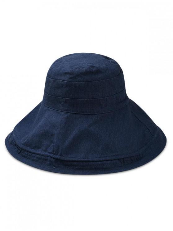 fashion Double Faced Floppy Bucket Hat - CADETBLUE