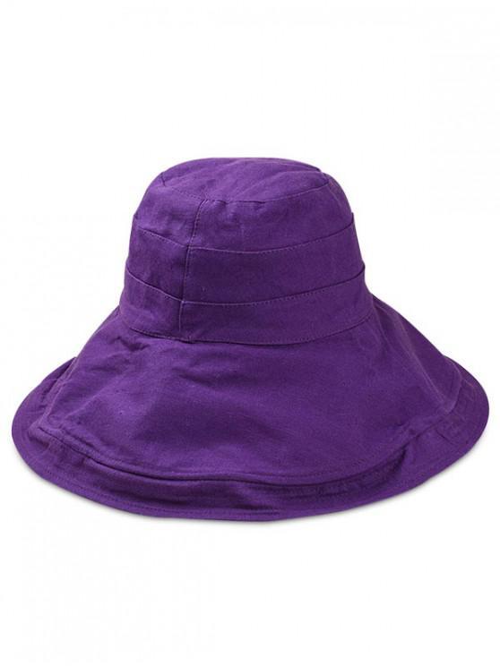 fancy Double Faced Floppy Bucket Hat - PURPLE