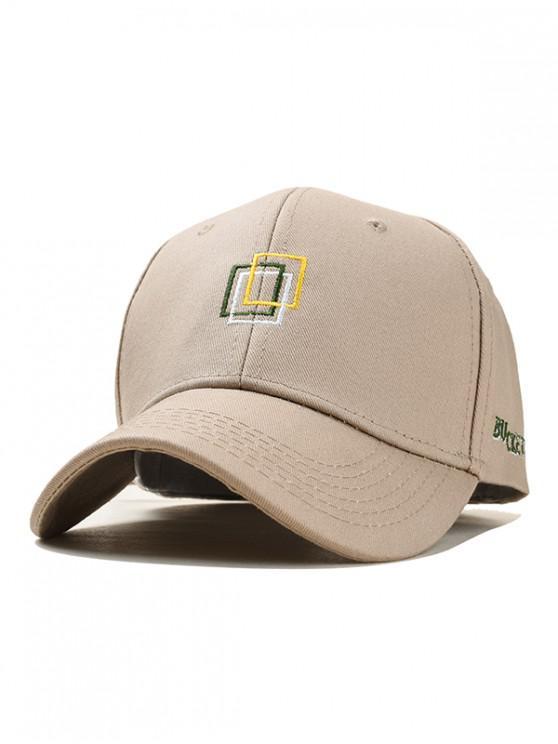 women Icon Embroidery Cotton Baseball Hat - KHAKI