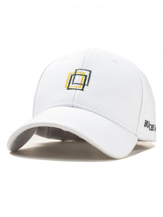 best Icon Embroidery Cotton Baseball Hat - WHITE