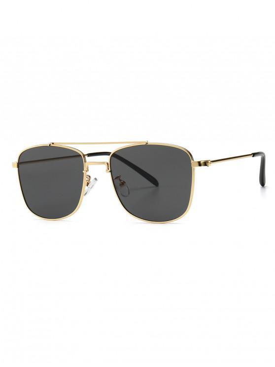 hot Chic Square Shape Sunglasses - BLACK