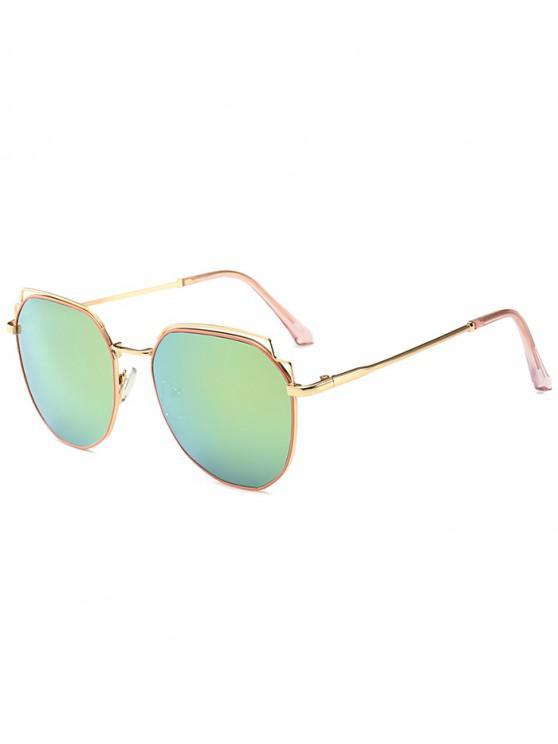shop Stylish Alloy Frame Sunglasses - YELLOW GREEN