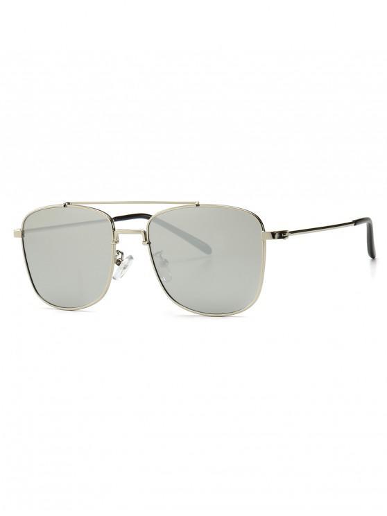 shops Chic Square Shape Sunglasses - CRYSTAL CREAM