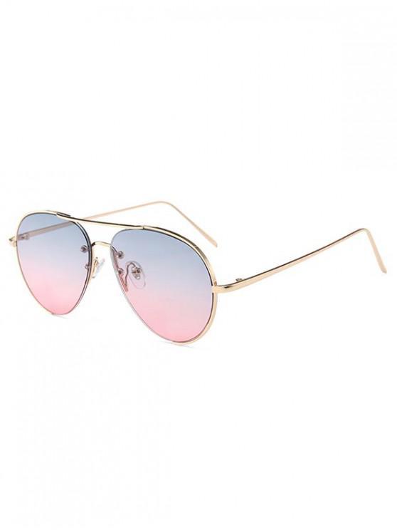 outfits Metal Anti UV Pilot Sunglasses - MULTI-A